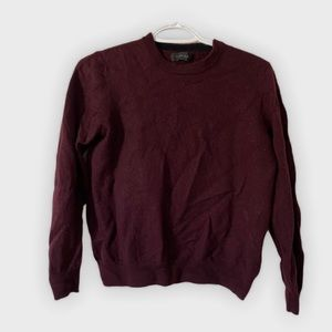 Burgundy 100% merino wool sweater